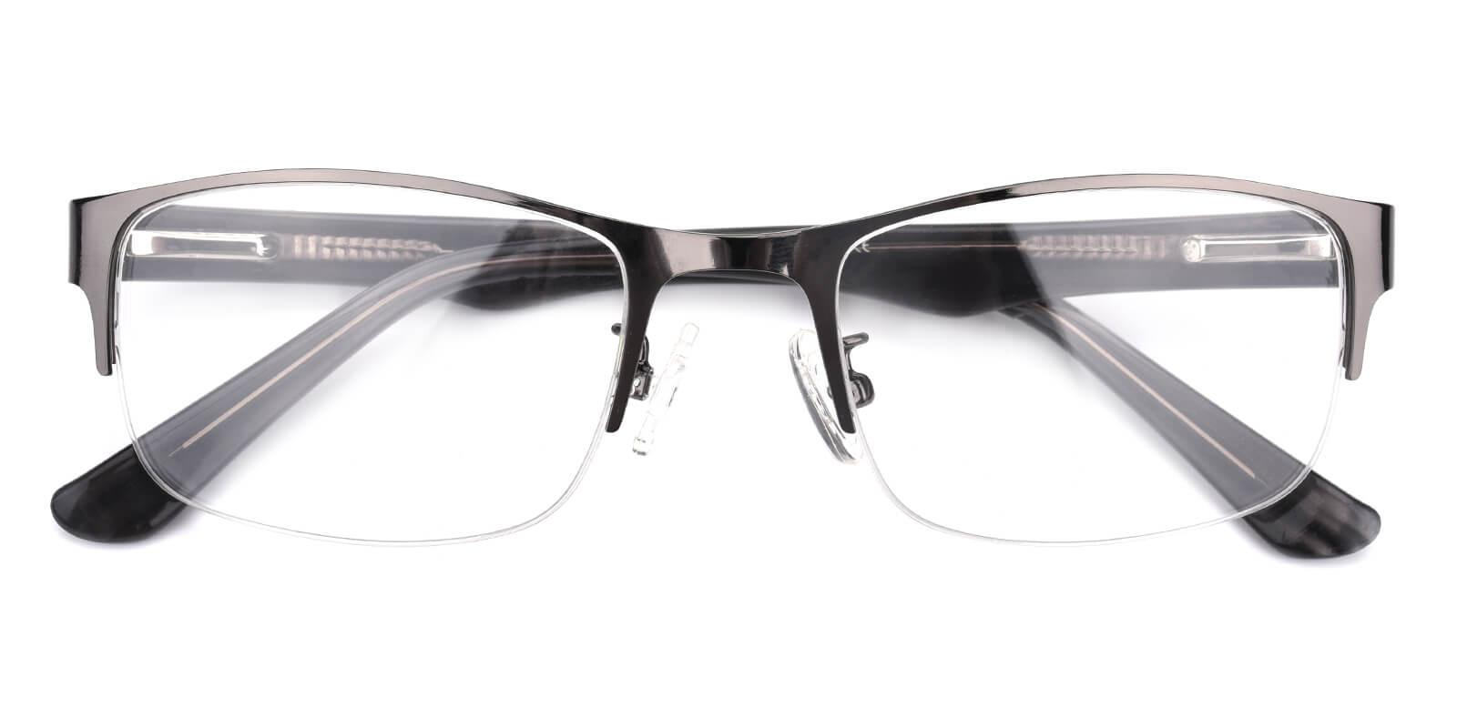 Sapphire-Gun-Rectangle-Metal-Eyeglasses-detail