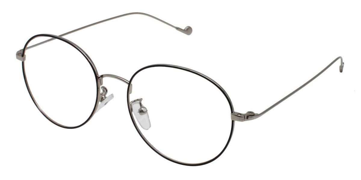 -Black-Round-Metal-Eyeglasses-detail