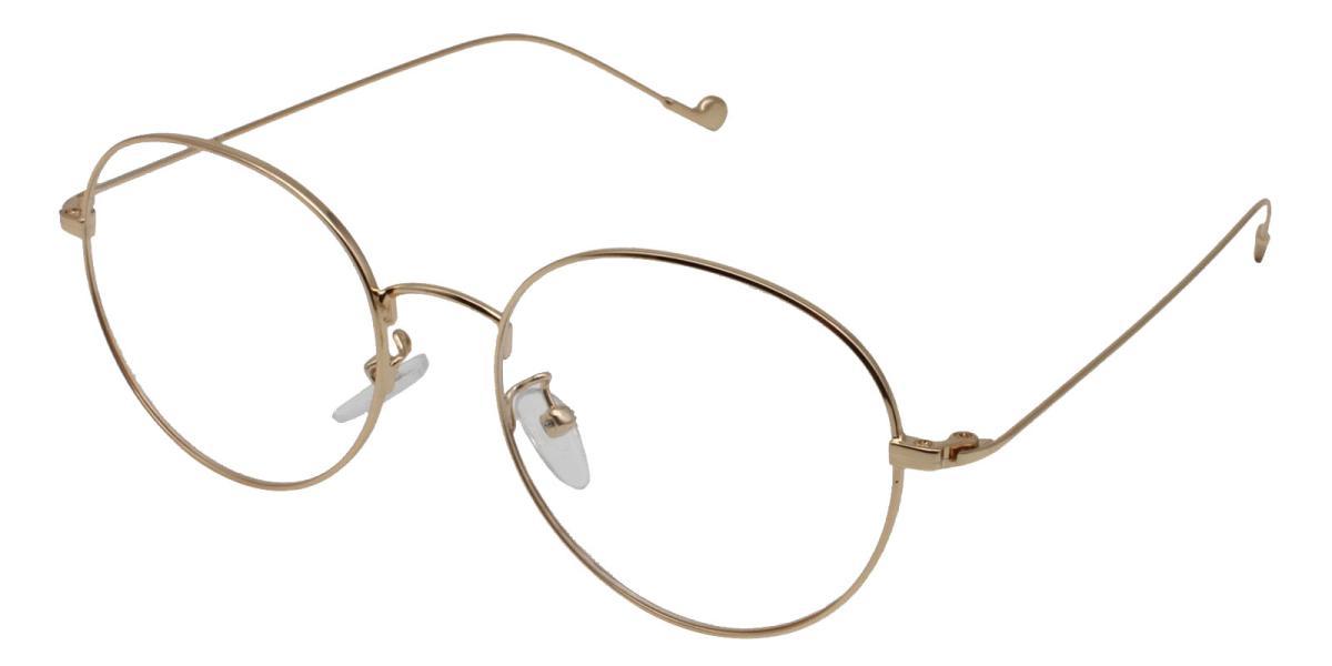 -Gold-Round-Metal-Eyeglasses-additional1