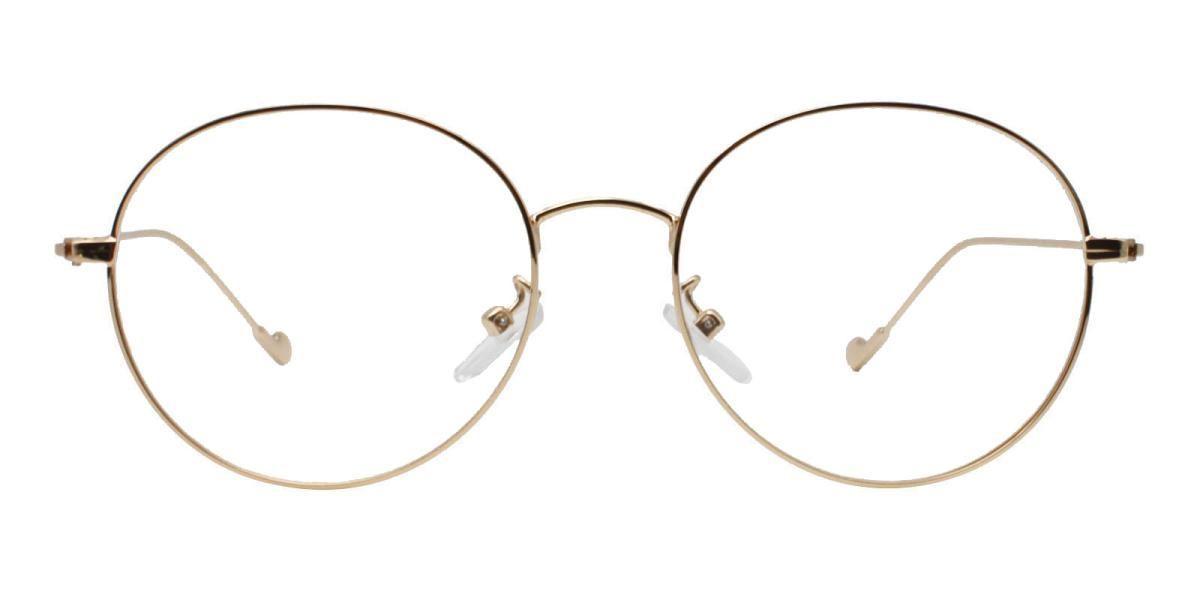 -Gold-Round-Metal-Eyeglasses-additional2