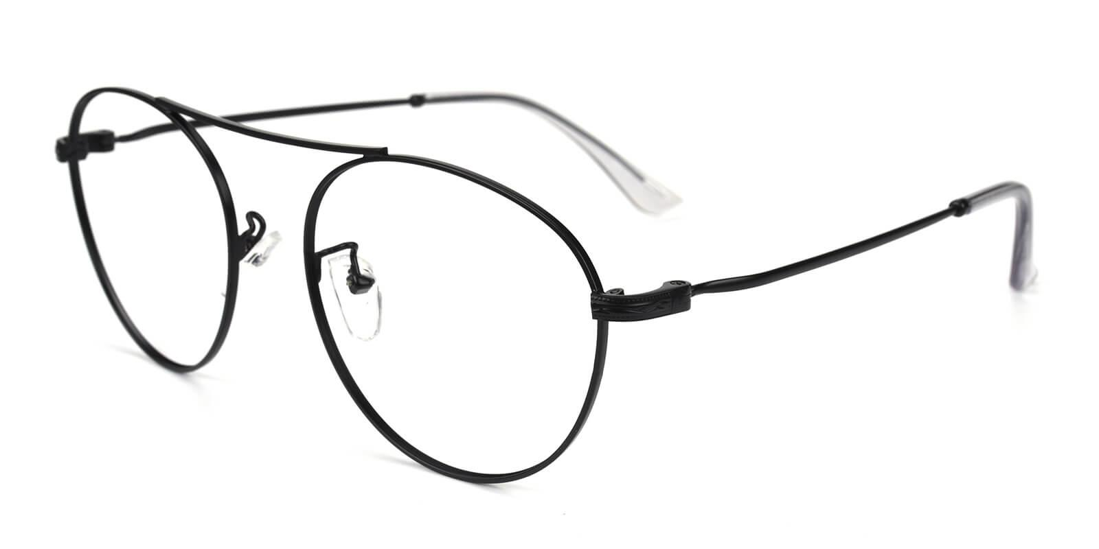 Hermoso-Black-Aviator-Metal-Eyeglasses-additional1