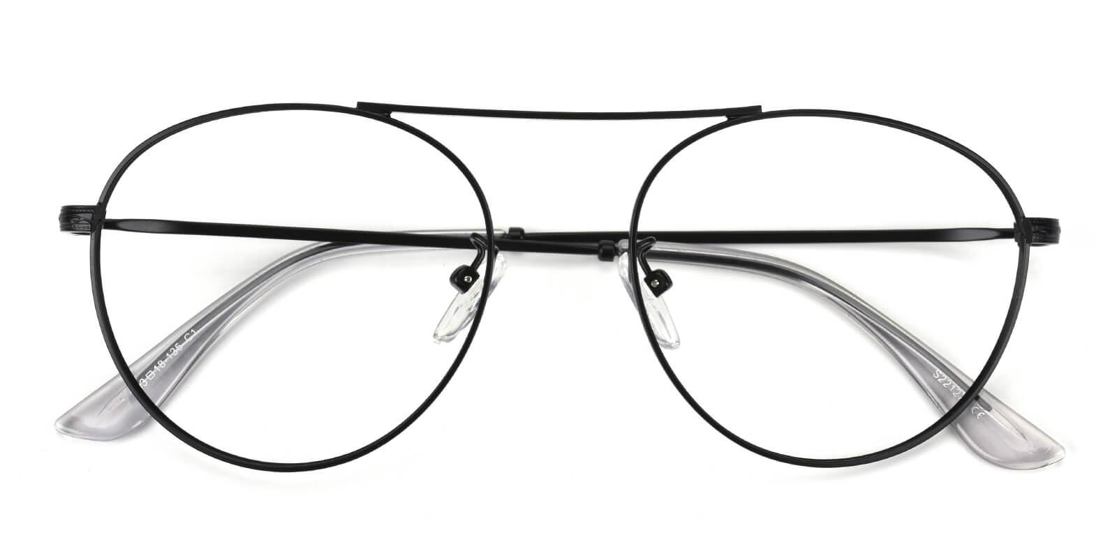 Hermoso-Black-Aviator-Metal-Eyeglasses-detail