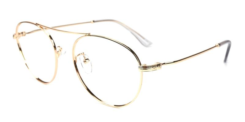 Hermoso-Gold-Eyeglasses