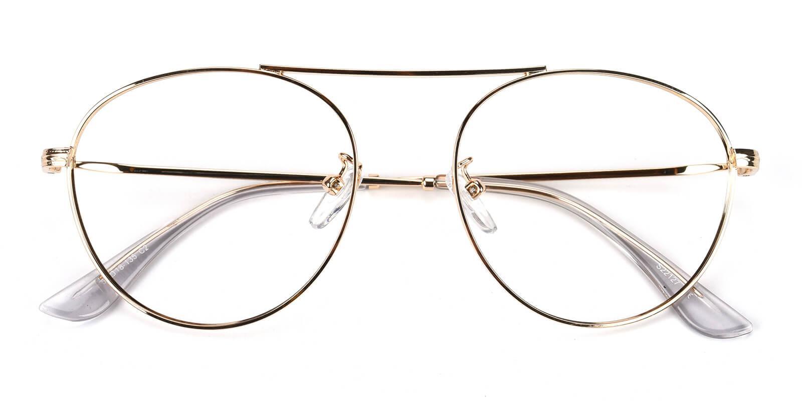 Hermoso-Gold-Aviator-Metal-Eyeglasses-detail