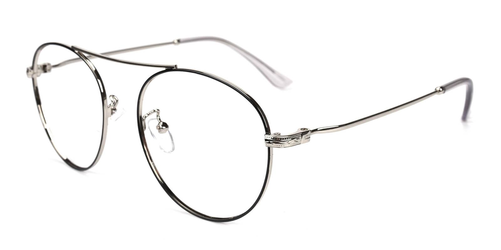 Hermoso-Silver-Aviator-Metal-Eyeglasses-additional1