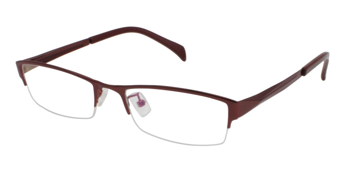 Melody-Red-Rectangle-Metal-Eyeglasses-additional1