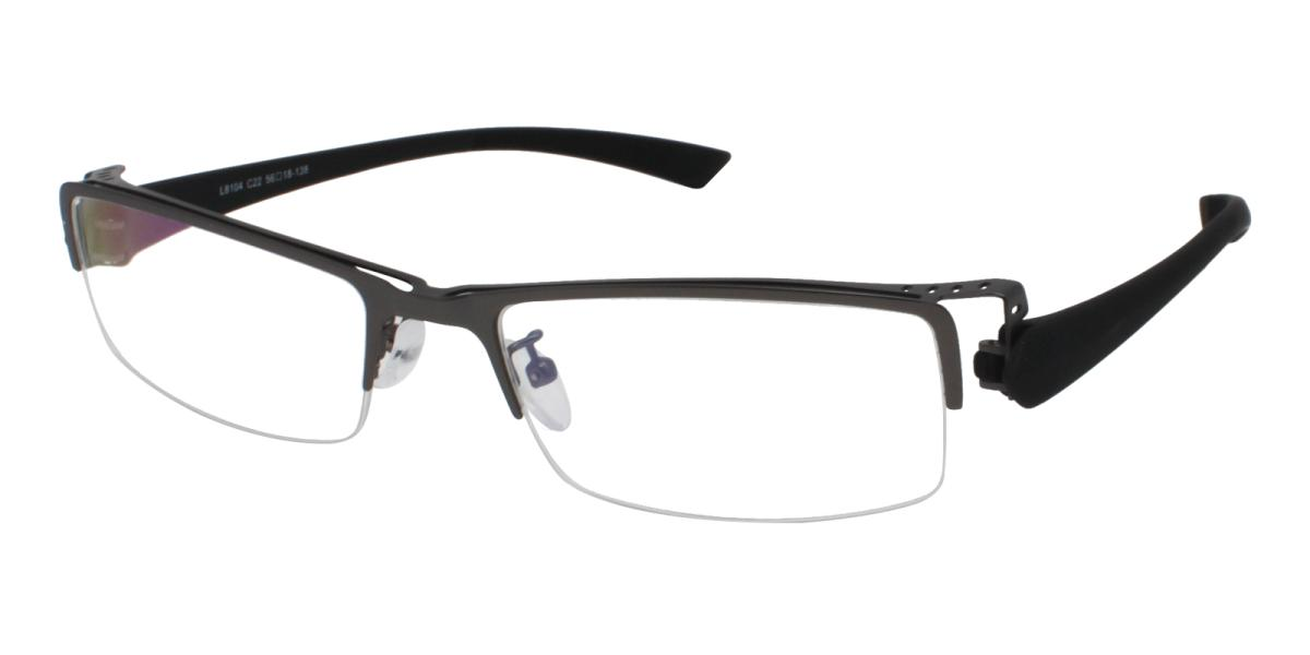 Blean-Black-Rectangle-Metal-Eyeglasses-additional1