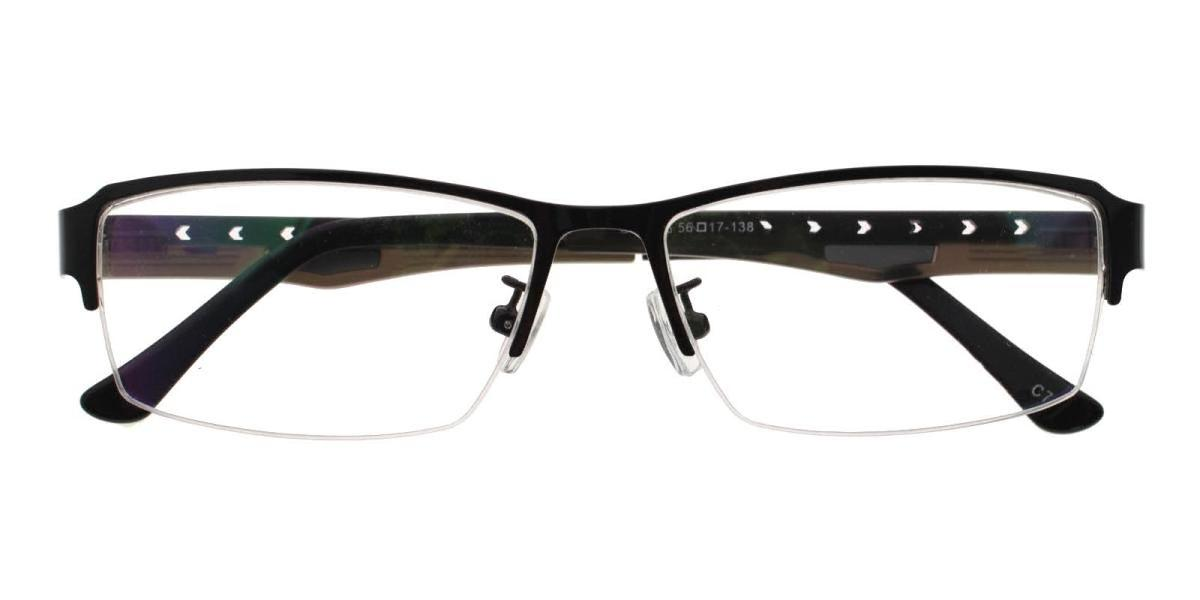 Blean-Black-Rectangle-Metal-Eyeglasses-detail