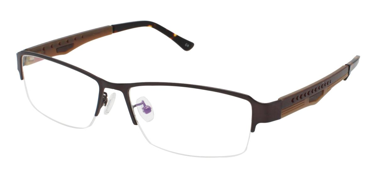 Blean-Brown-Rectangle-Metal-Eyeglasses-additional1