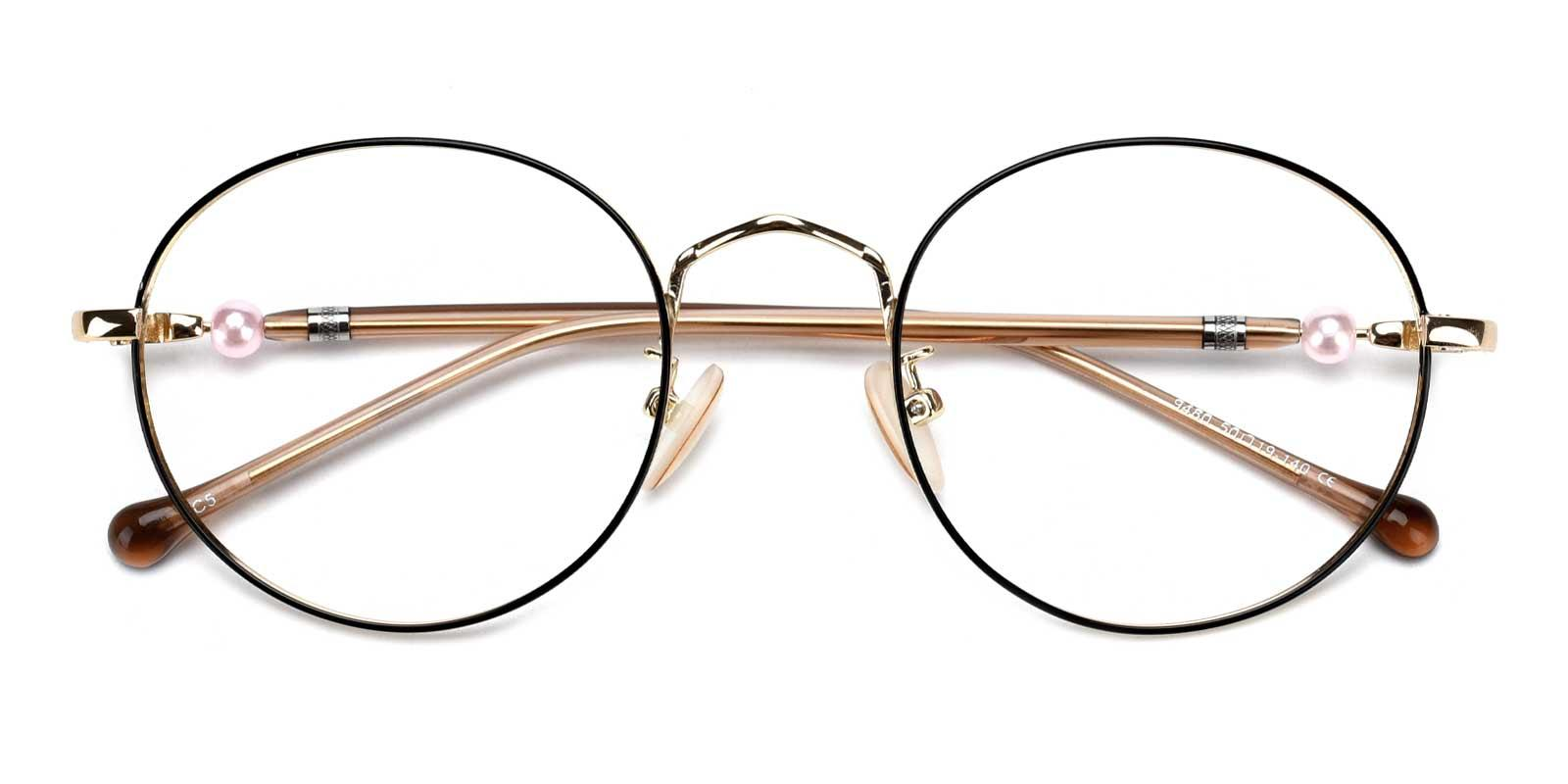 Oswego-Gold-Round-Metal-Eyeglasses-detail