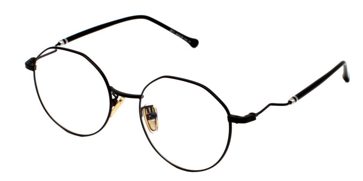 -Black-Geometric-Metal-Eyeglasses-additional1