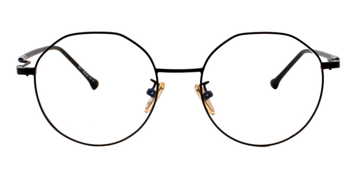 -Black-Geometric-Metal-Eyeglasses-detail