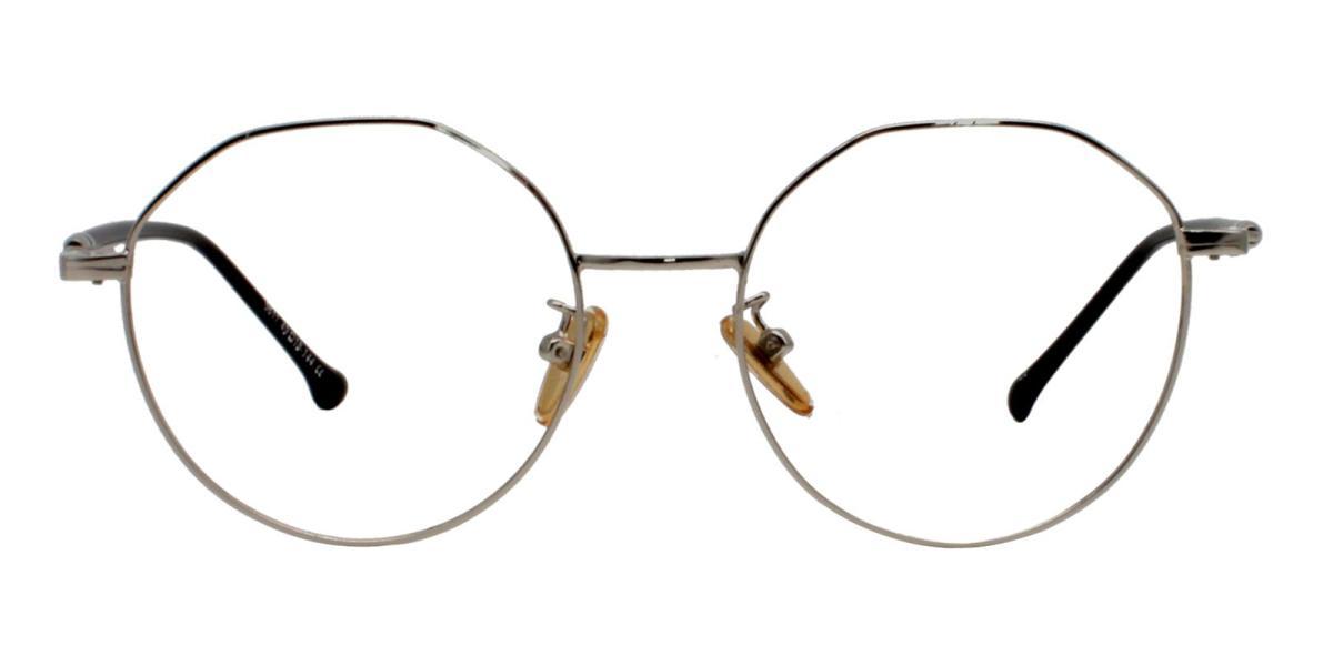 -Silver-Geometric-Metal-Eyeglasses-detail