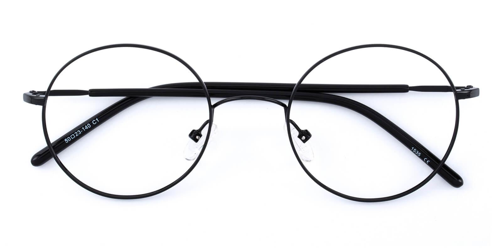 Maddy-Black-Round-Metal-Eyeglasses-detail