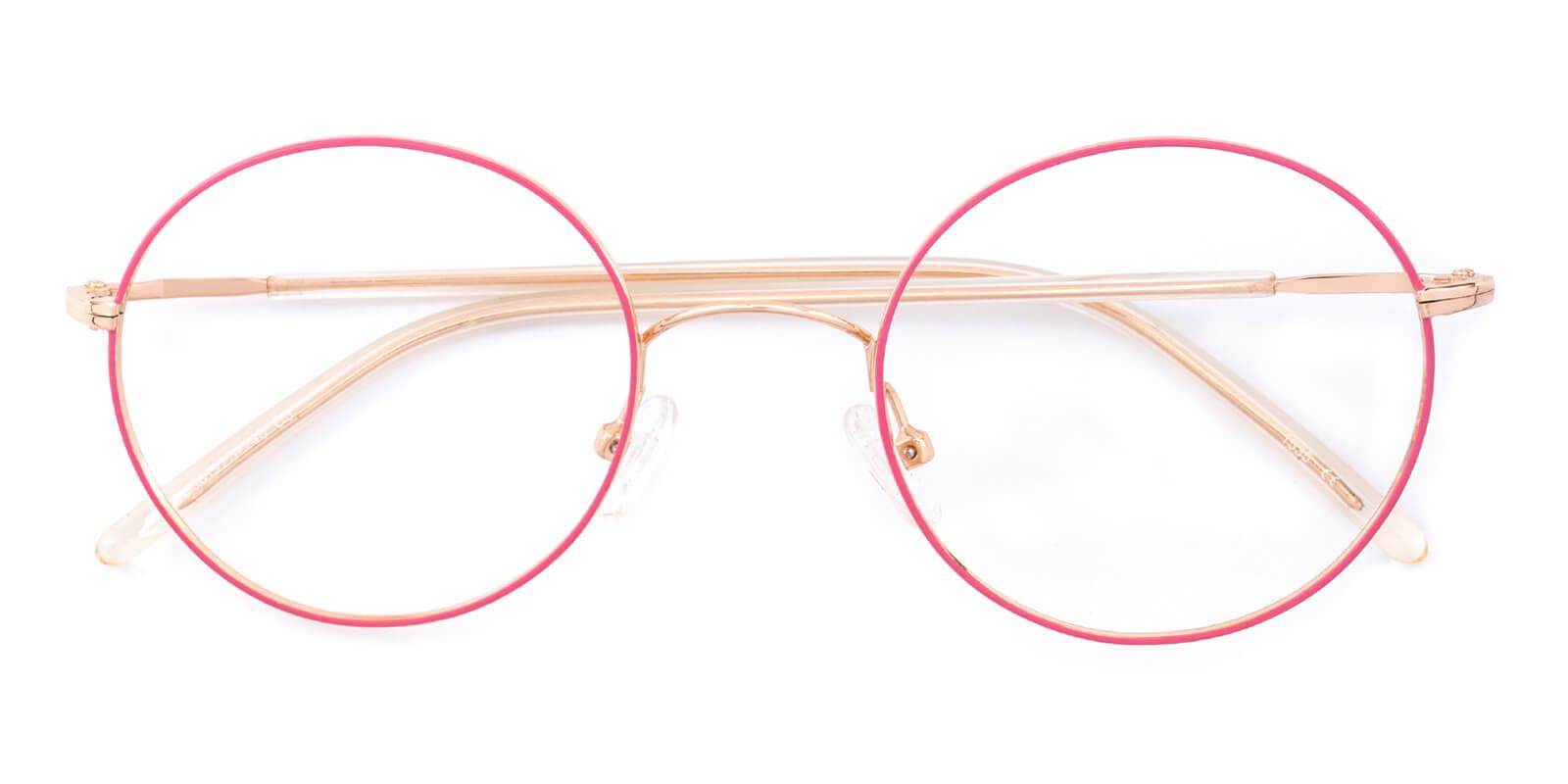 Maddy-Pink-Round-Metal-Eyeglasses-detail