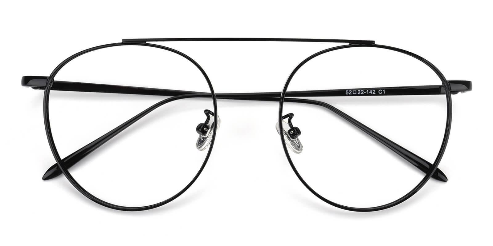 Eos-Black-Aviator-Metal-Eyeglasses-detail