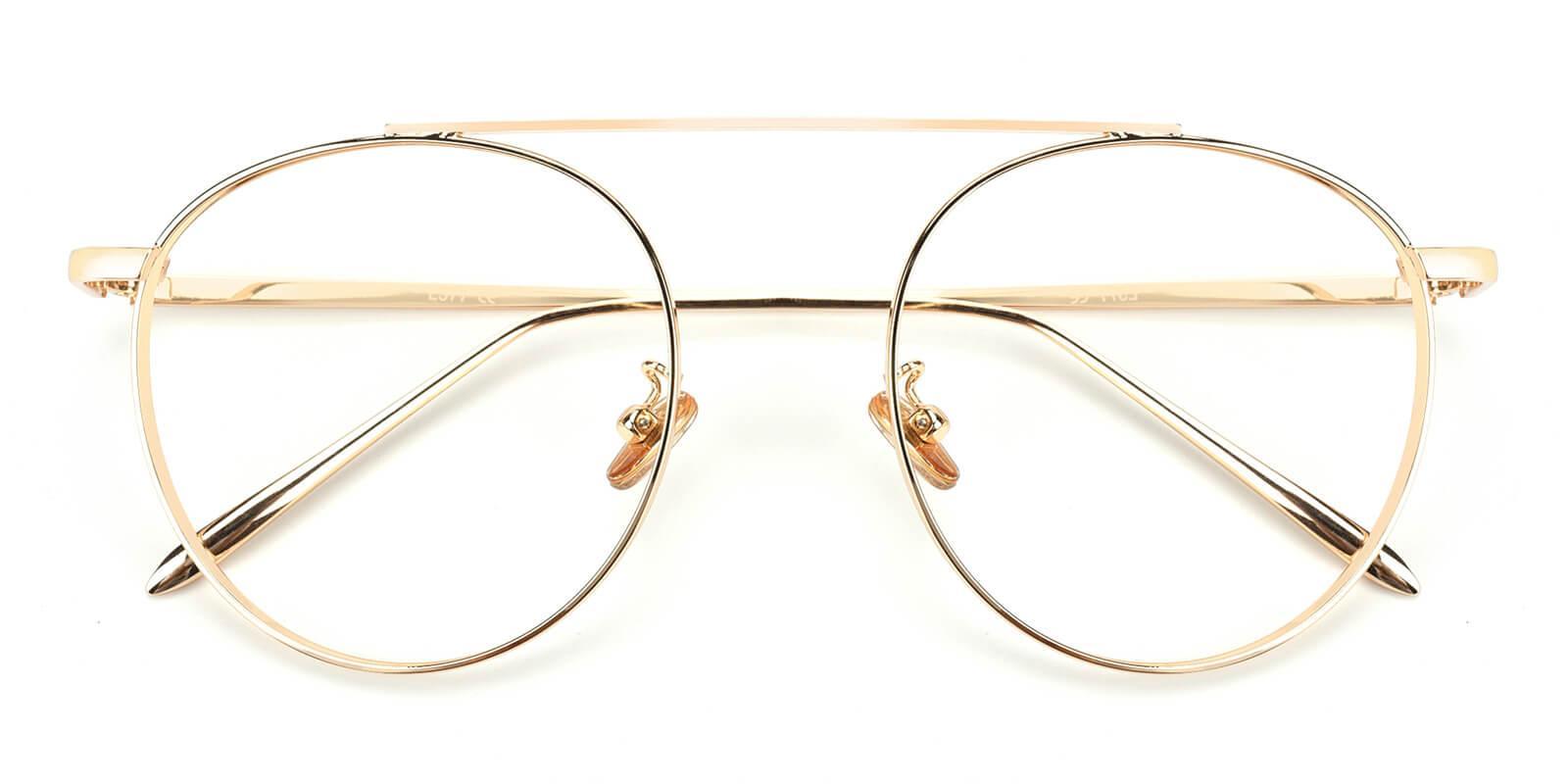 Eos-Gold-Aviator-Metal-Eyeglasses-detail
