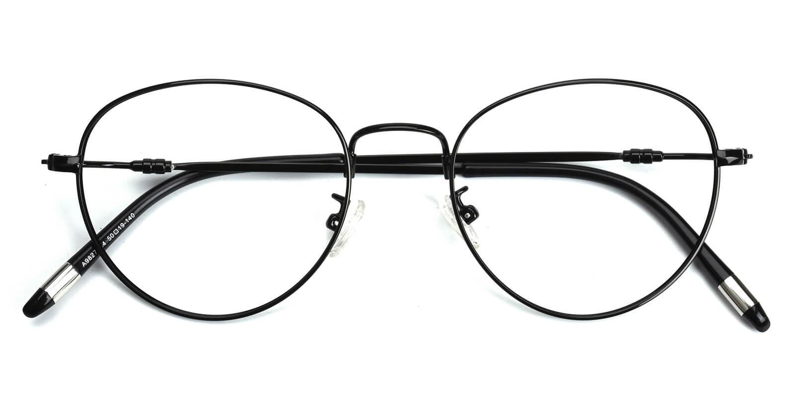 Sadie-Black-Round-Metal-Eyeglasses-detail