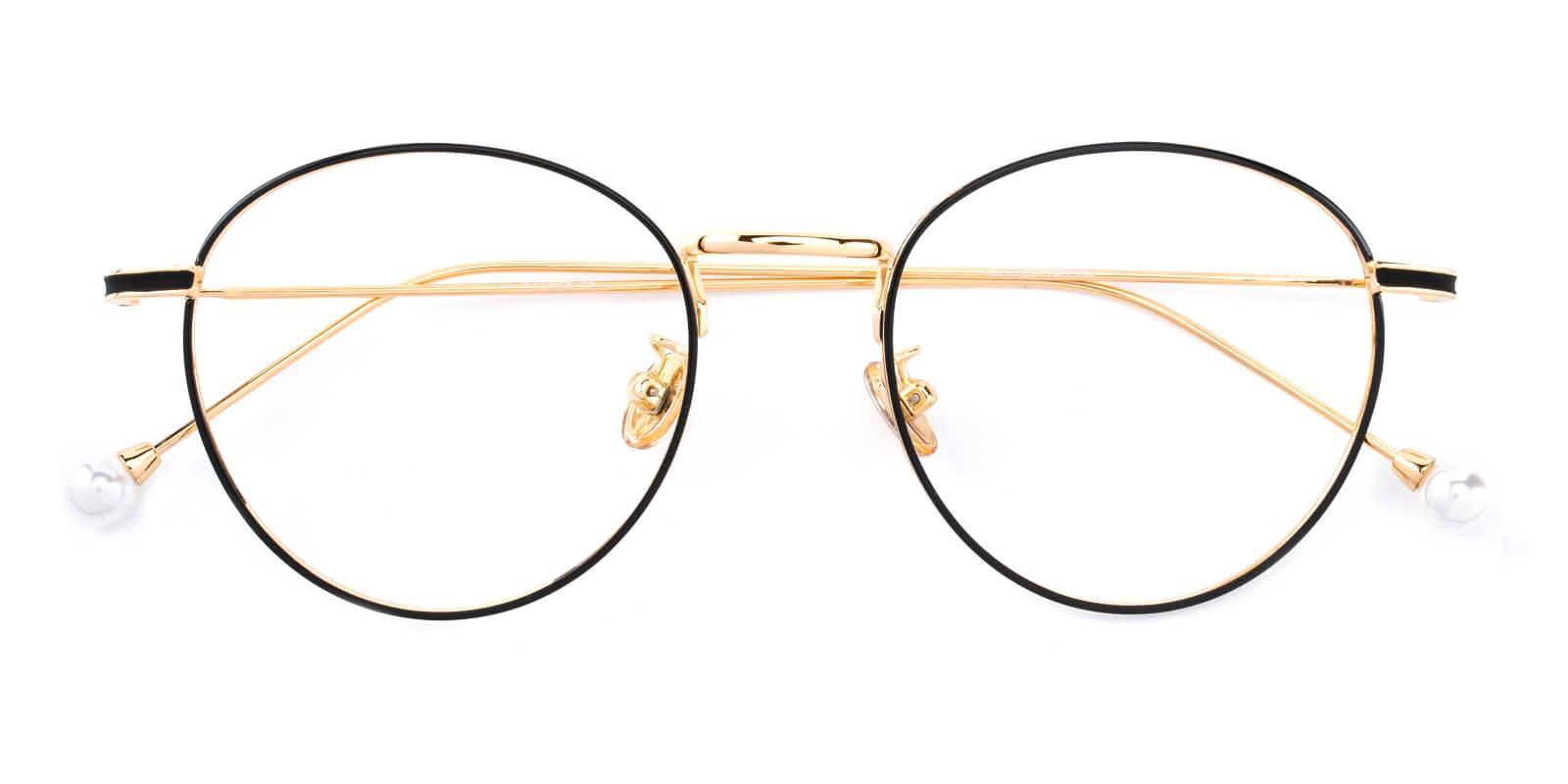 Frail-Pattern-Round-Metal-Eyeglasses-detail
