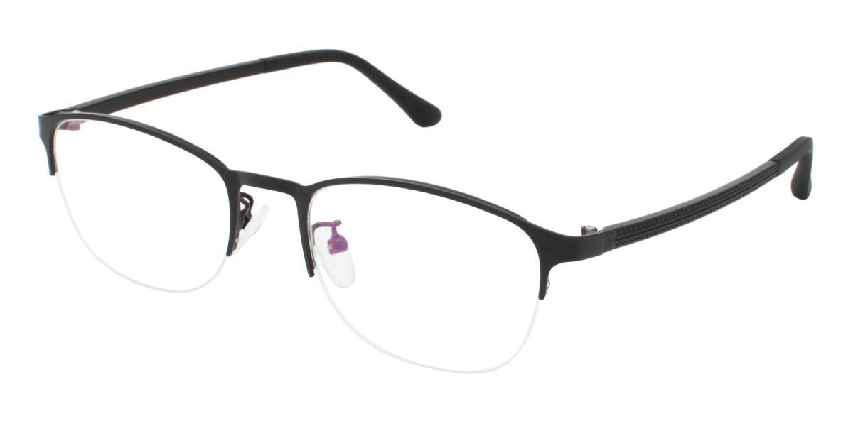 Cora-Black-Rectangle-Metal-Eyeglasses-additional1