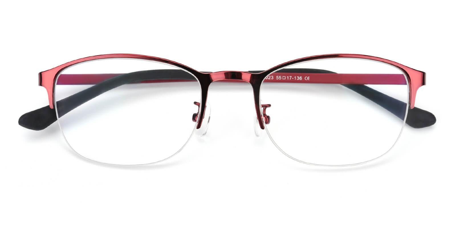 Cora-Red-Rectangle-Metal-Eyeglasses-detail