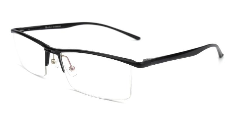 Metalla-Black-Eyeglasses