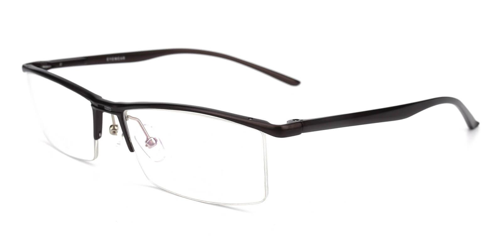 Metalla-Brown-Rectangle-Metal-Eyeglasses-detail