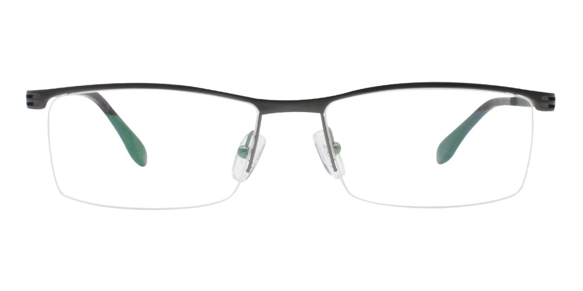 Matin-Black-Rectangle-Metal-Eyeglasses-additional2