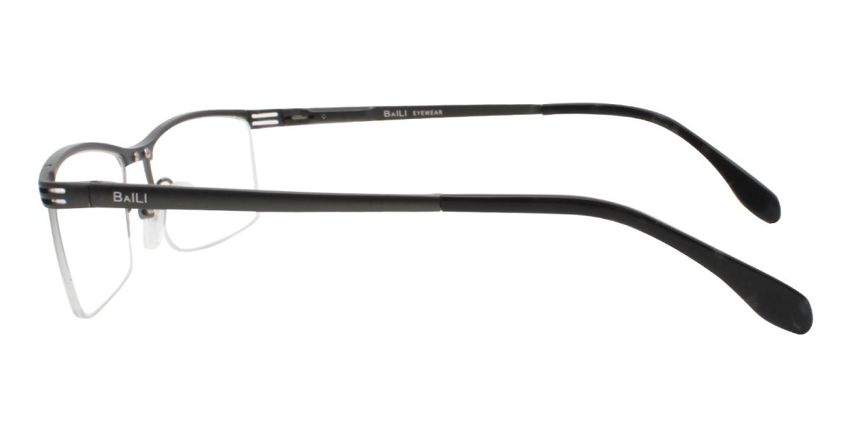 Matin-Black-Rectangle-Metal-Eyeglasses-additional3