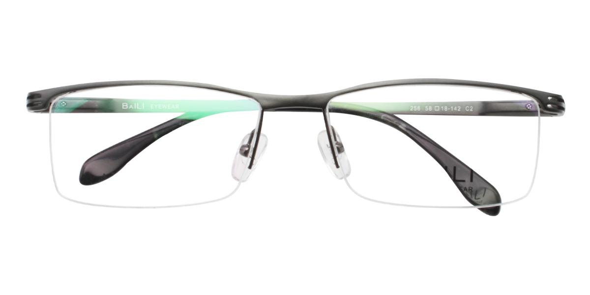 Matin-Black-Rectangle-Metal-Eyeglasses-detail
