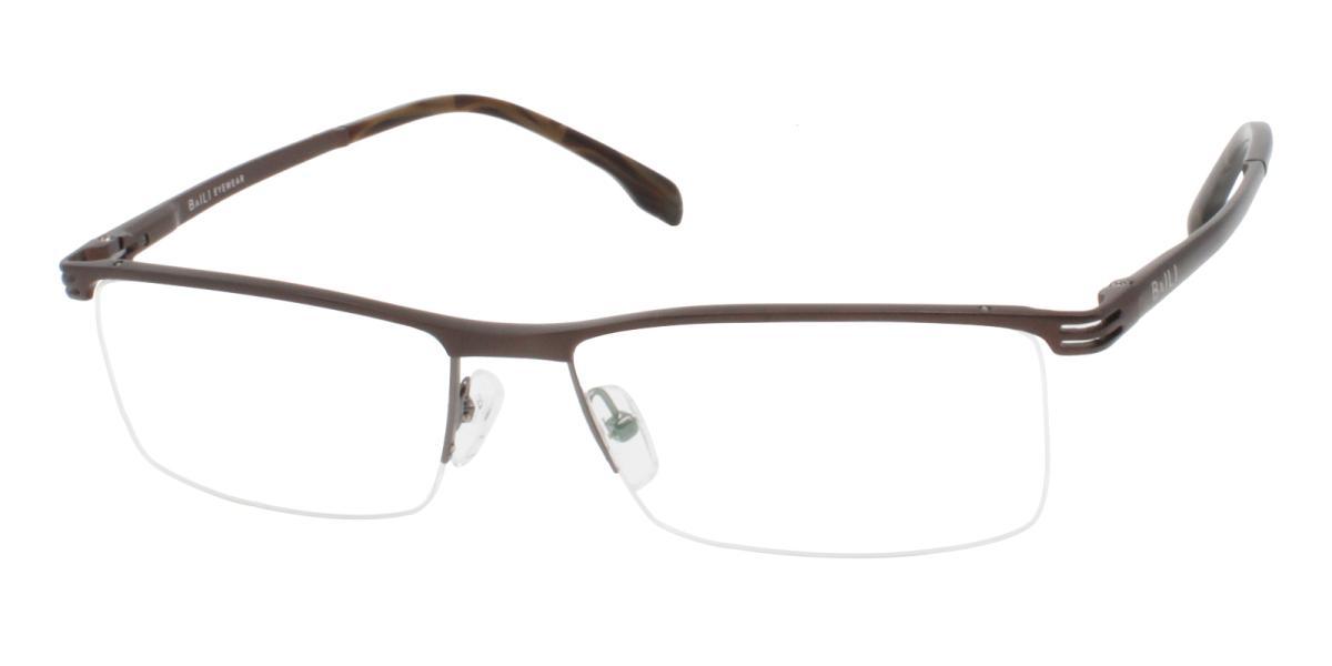 Matin-Brown-Rectangle-Metal-Eyeglasses-additional1