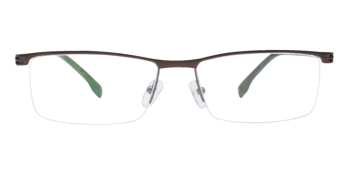 Matin-Brown-Rectangle-Metal-Eyeglasses-additional2