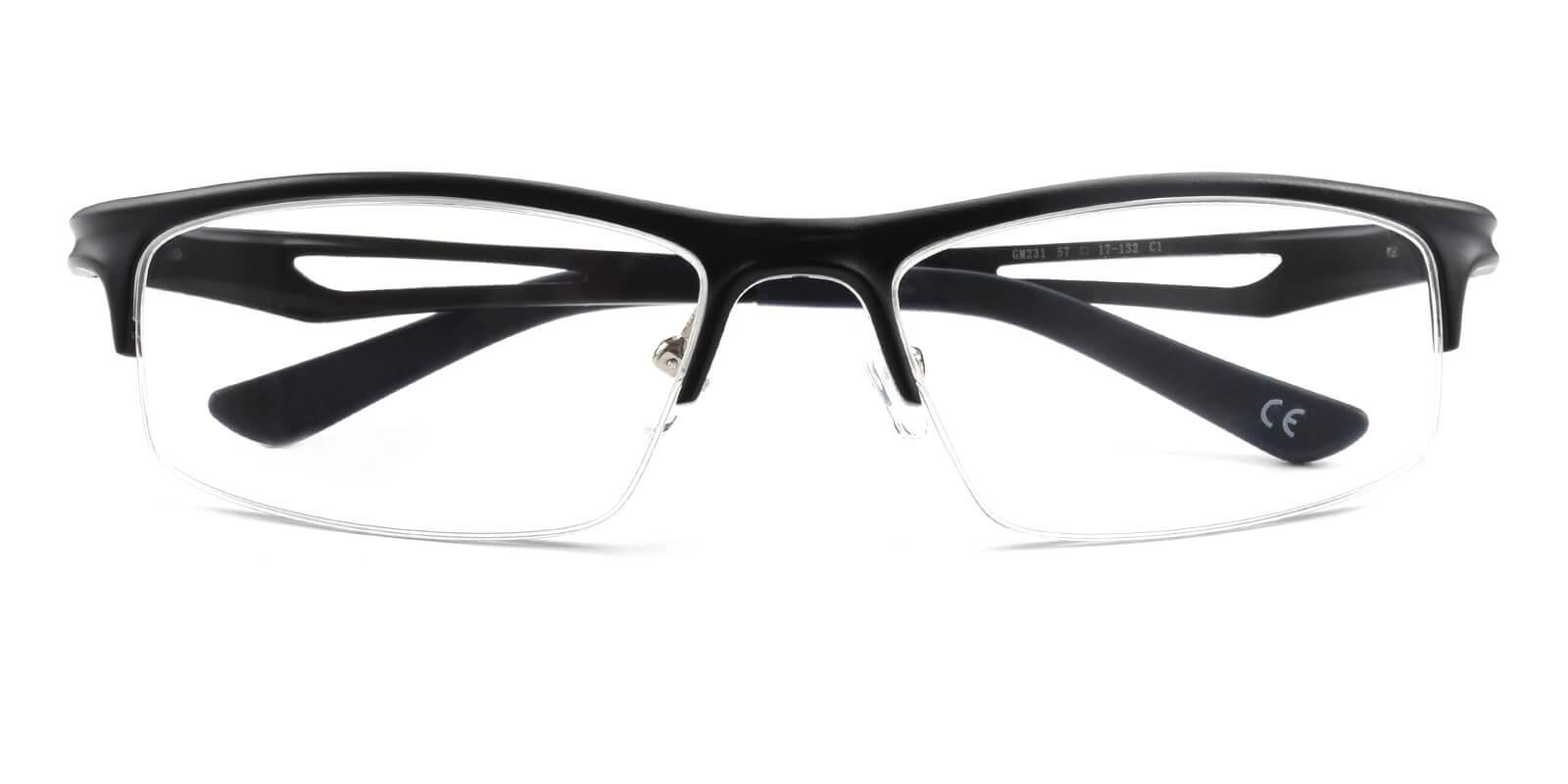 Muhammad-Black-Rectangle-Metal-Eyeglasses-detail