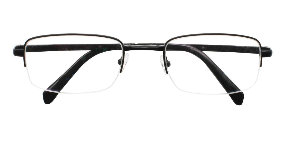 Andrew-Black-Rectangle-Metal-Eyeglasses-detail