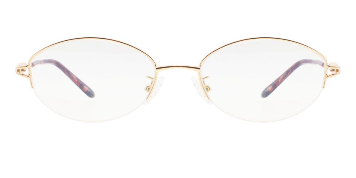 -Gold-Oval-Metal-Eyeglasses-additional2