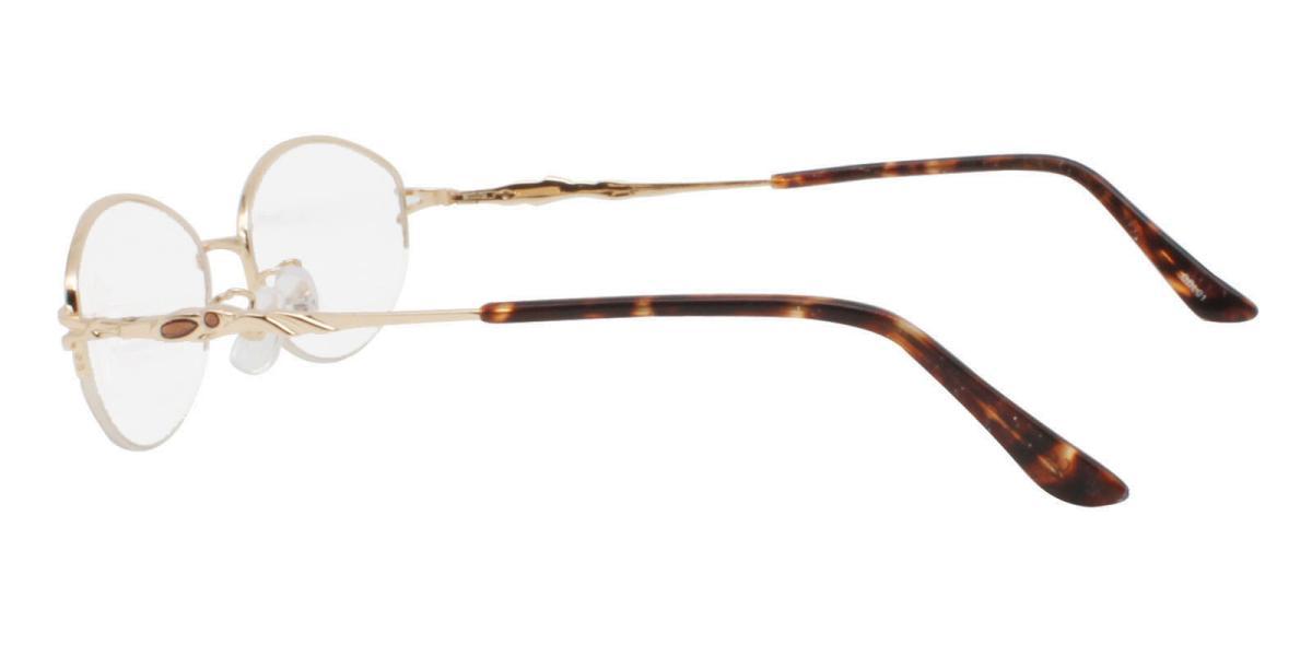 -Gold-Oval-Metal-Eyeglasses-detail