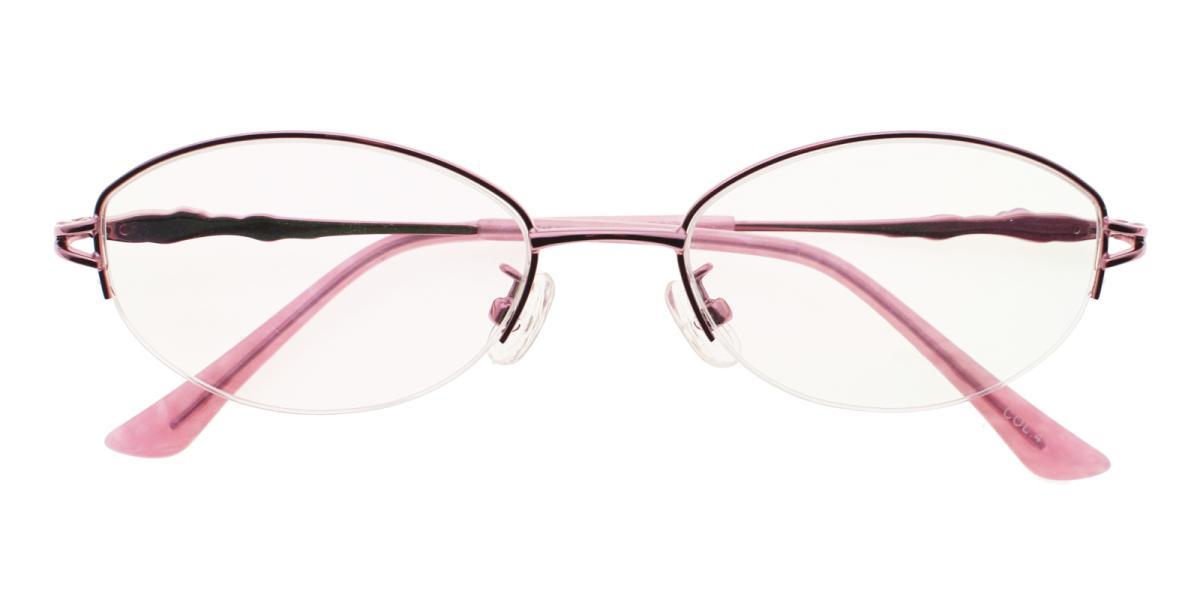 -Pink-Oval-Metal-Eyeglasses-detail