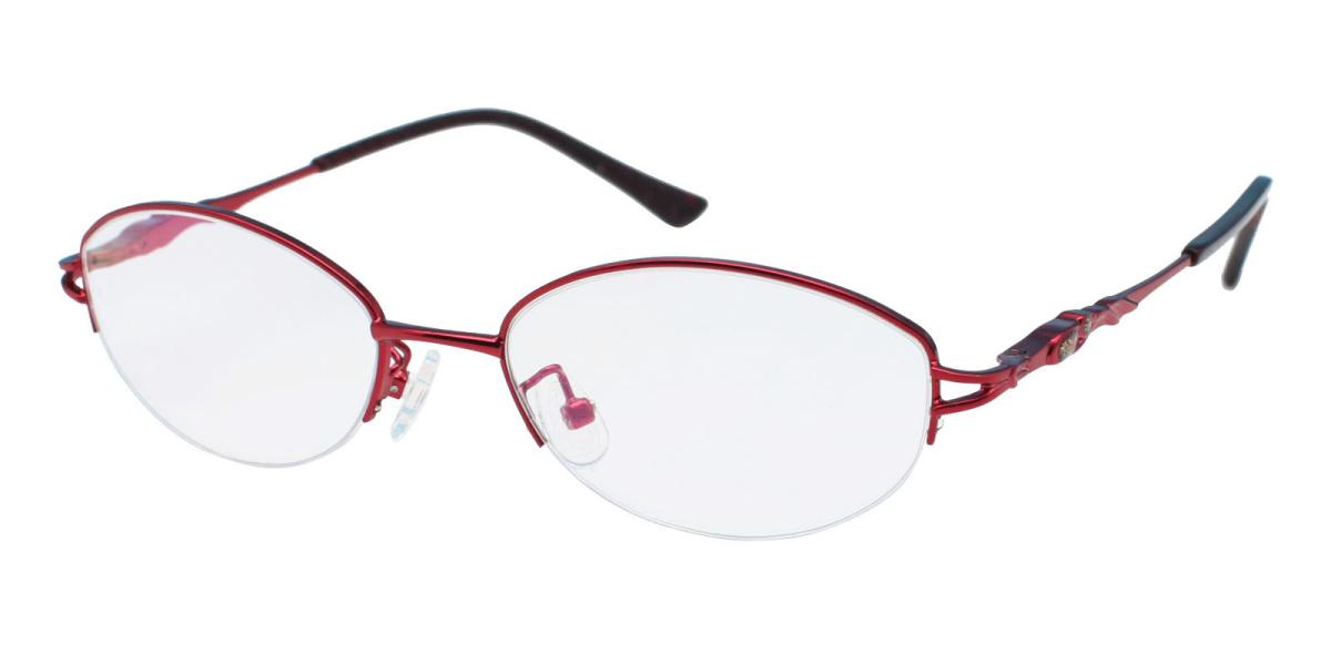 -Red-Oval-Metal-Eyeglasses-detail