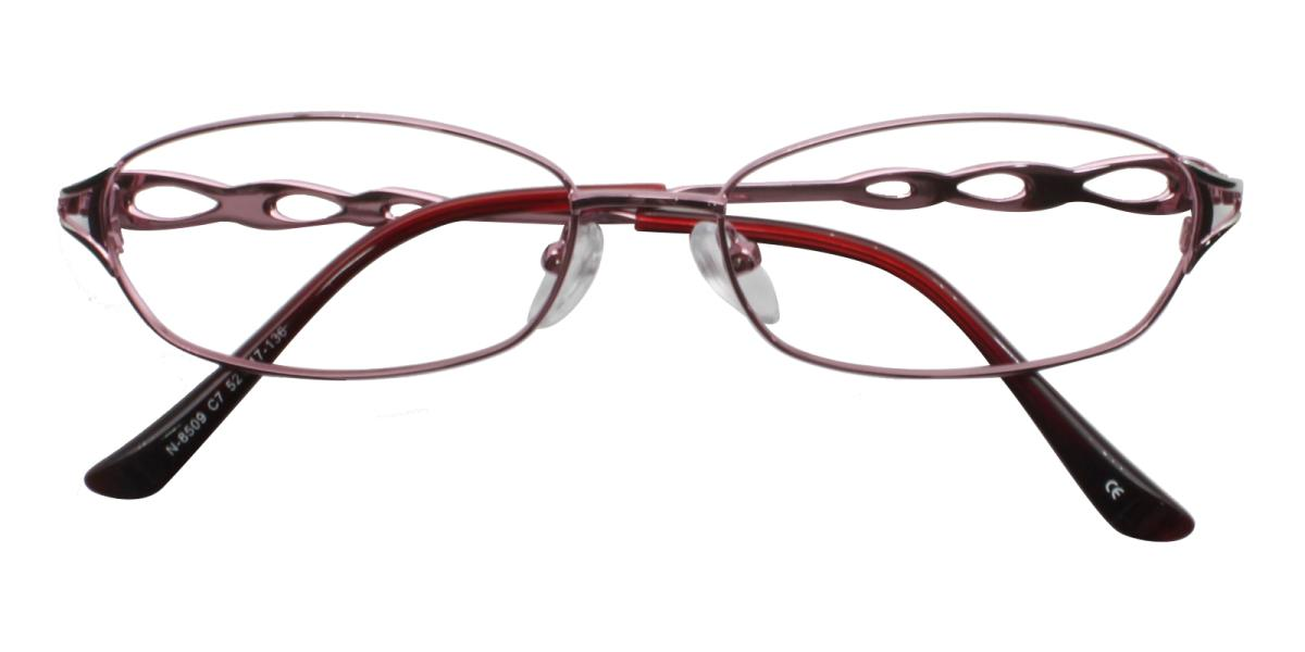 -Pink-Rectangle-Metal-Eyeglasses-detail