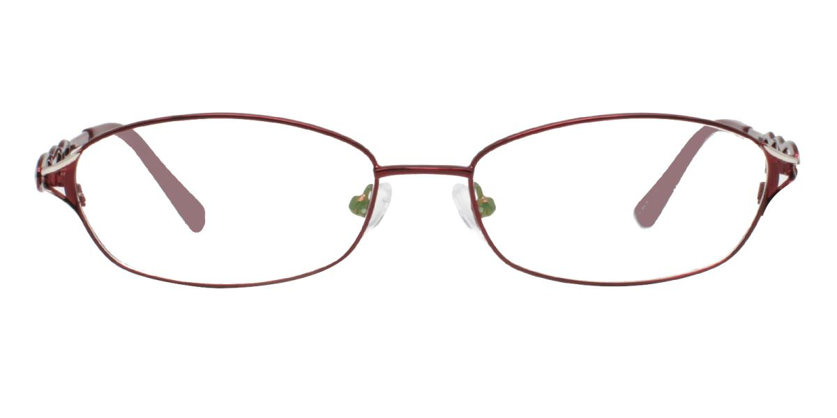 -Red-Rectangle-Metal-Eyeglasses-detail