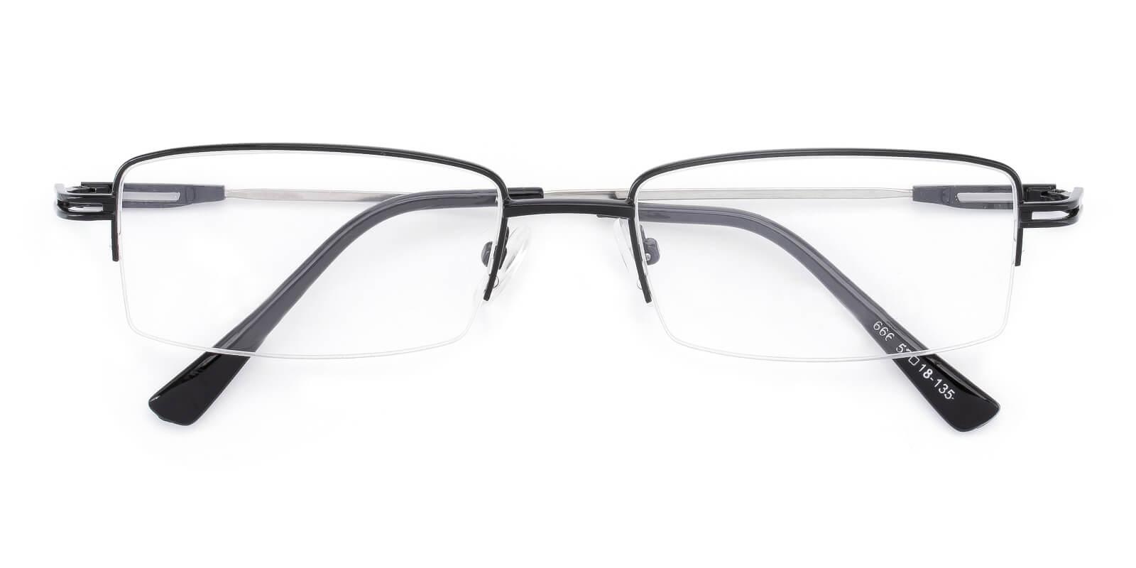 Studio-Black-Rectangle-Metal-Eyeglasses-detail