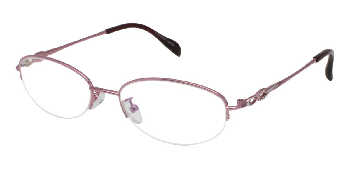 Carving-Pink-Oval-Metal-Eyeglasses-additional1