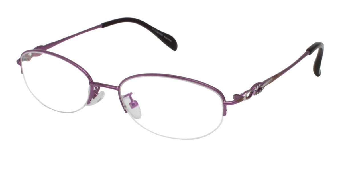 Carving-Purple-Oval-Metal-Eyeglasses-additional1