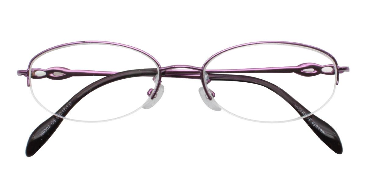 Carving-Purple-Oval-Metal-Eyeglasses-additional2