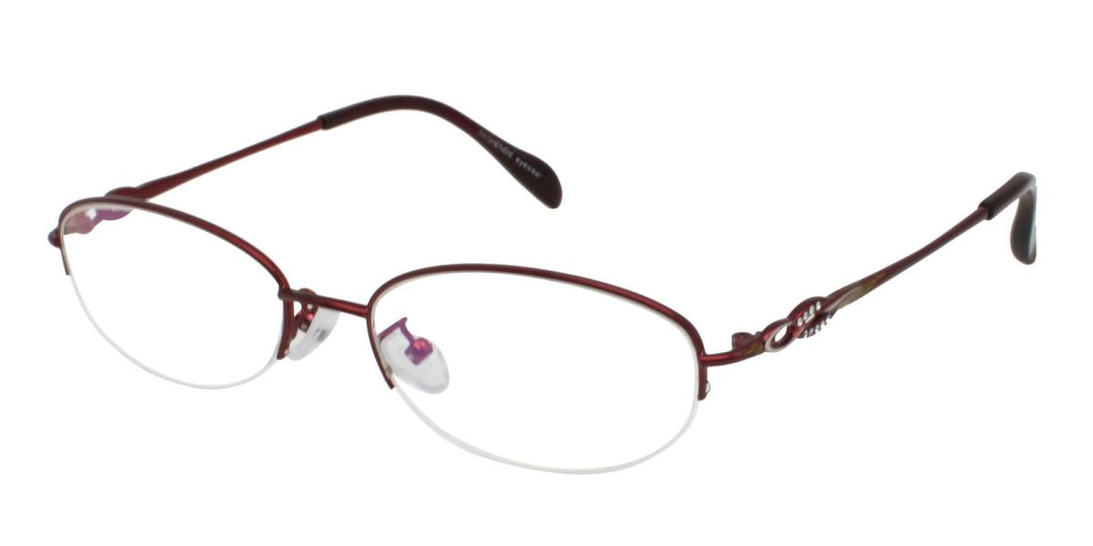 Carving-Red-Oval-Metal-Eyeglasses-additional1