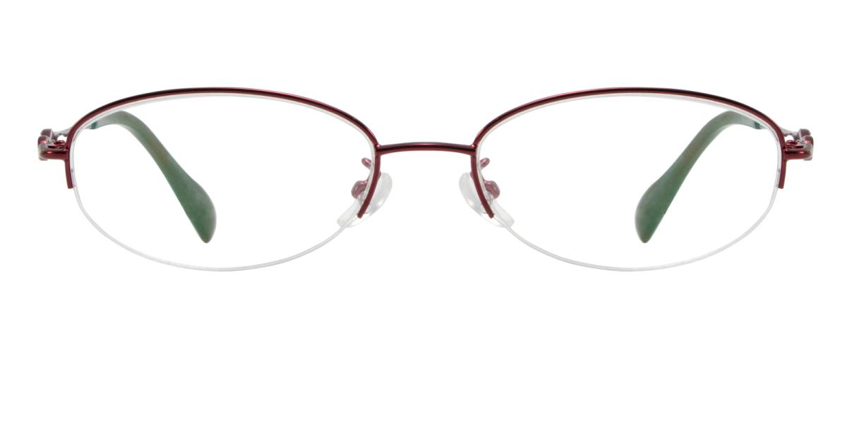 Carving-Red-Oval-Metal-Eyeglasses-additional2