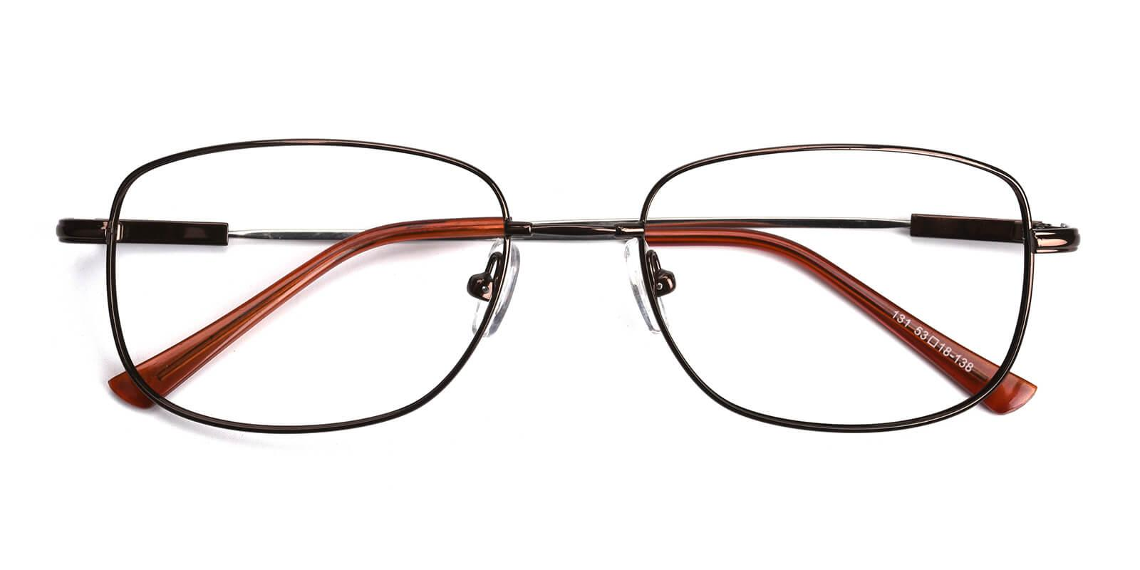 Twist-Brown-Square-Metal-Eyeglasses-detail