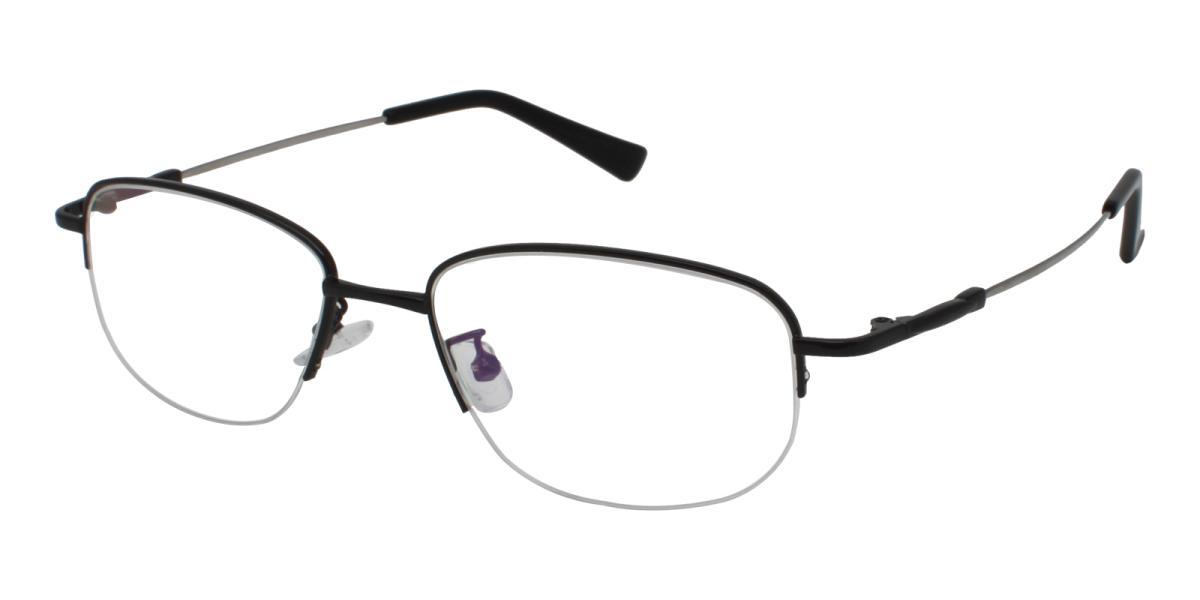 Recial-Black-Square-Metal-Eyeglasses-additional1