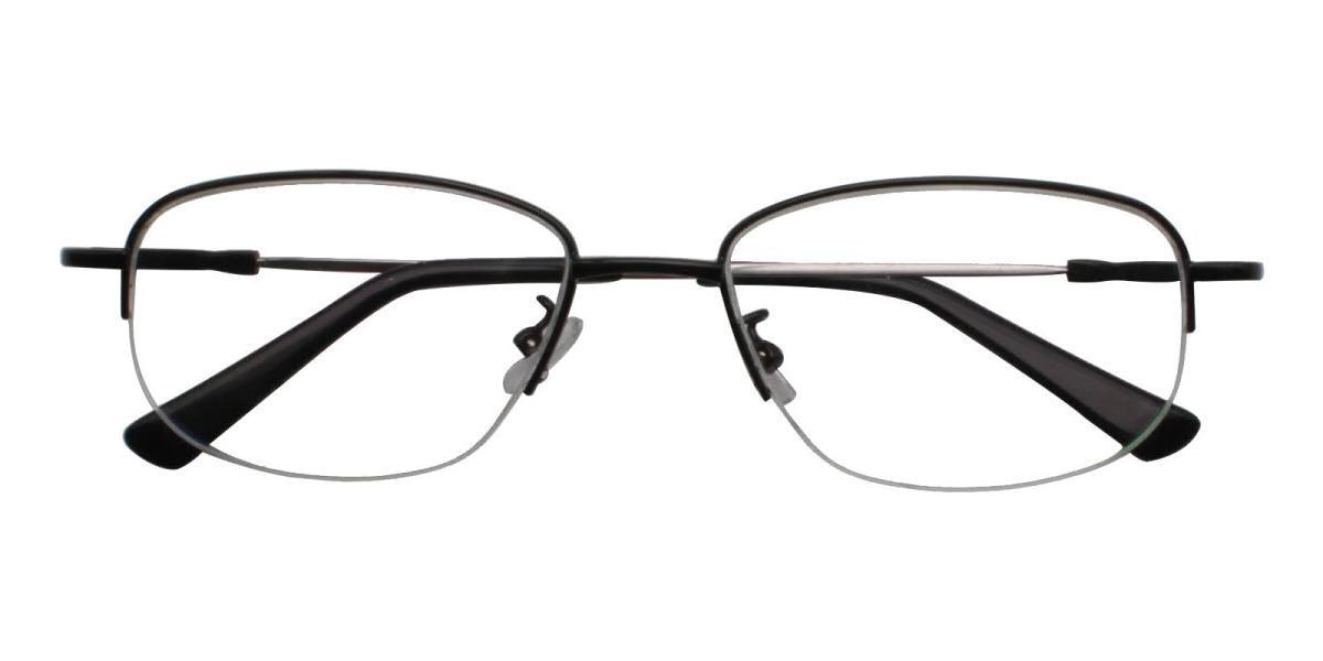 Recial-Black-Square-Metal-Eyeglasses-detail