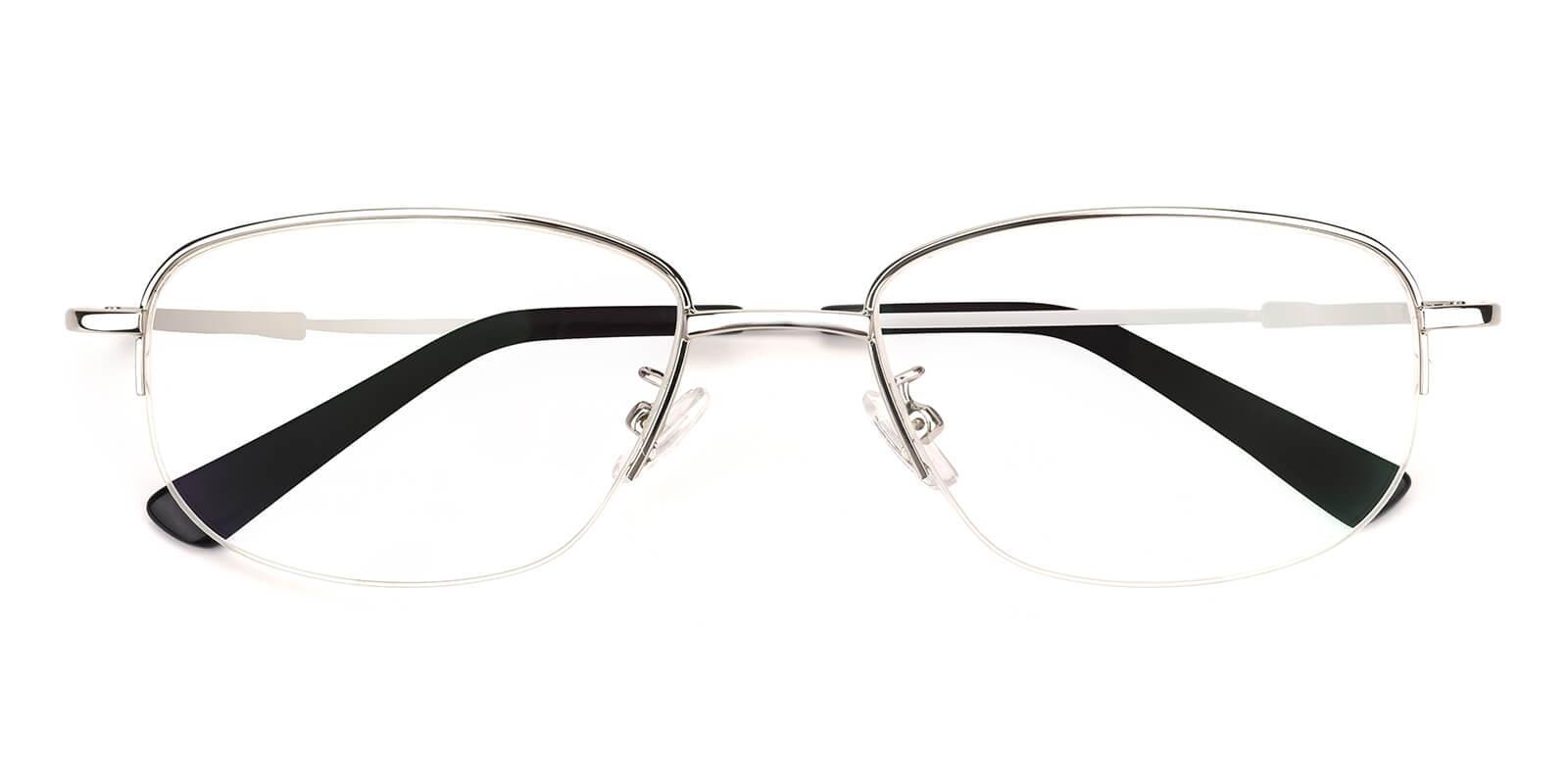 Recial-Silver-Square-Metal-Eyeglasses-detail